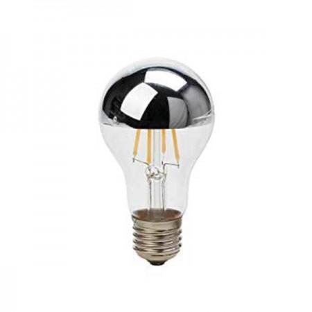 LED Bulb A60 E27 7W Half Silver Glass - Ledel
