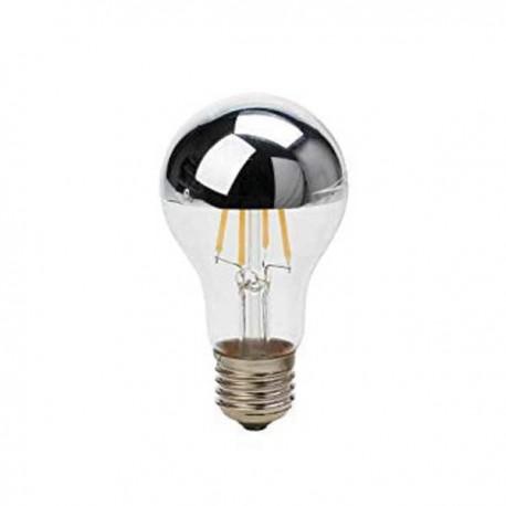 LED Bulb A60 E27 7W Half Silver Glass