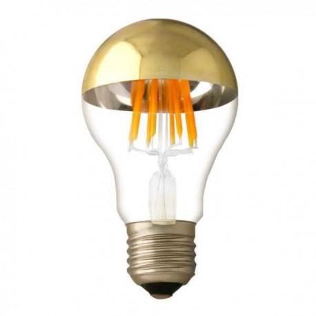 Bec LED A60 7W Half Golden Glass