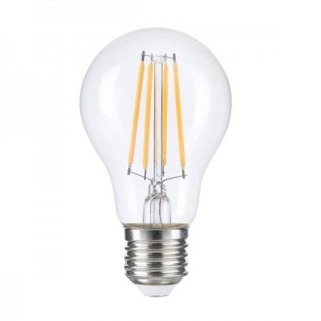 Bec LED A60 8W E27 Filament Clear Glass Dimabil - Ledel
