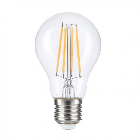 Bec LED A60 8W E27 Filament Clear Glass Dimabil