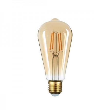 Bec LED CANDLE ST64 E27 8W GOLDEN GLASS - Ledel