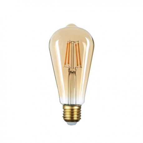 Bec LED CANDLE ST64 E27 8W GOLDEN GLASS