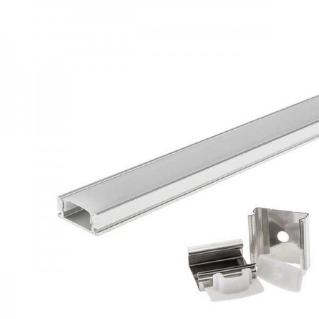 Profil Aluminiu 6mm 1M Reflector PVC - Ledel