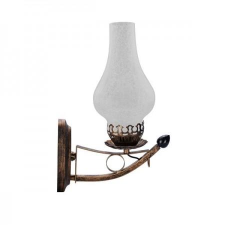 Lampă cu flacără LED 5W culoare bronz montabilă pe perete - Ledel