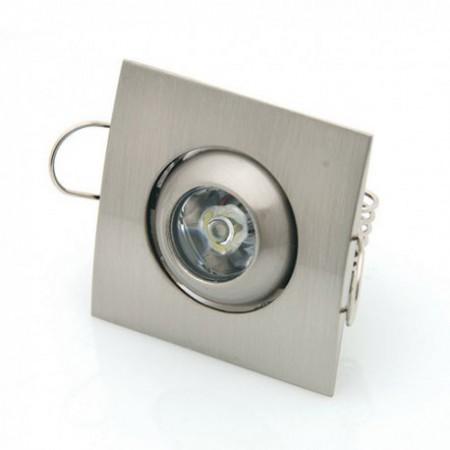 1W Lampa Spot LED patrata ajustabila lumina calda