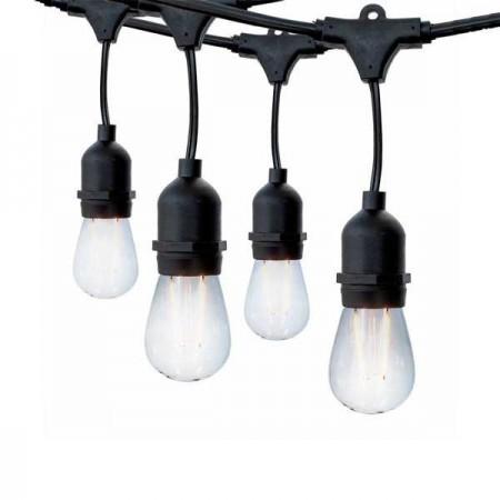 Ghirlanda Luminoasa 6m 10XE27 Negru - Ledel