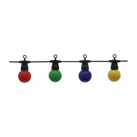 Ghirlanda Luminoasa Neagra 8m Cu 10xE27 G45 Color - Ledel