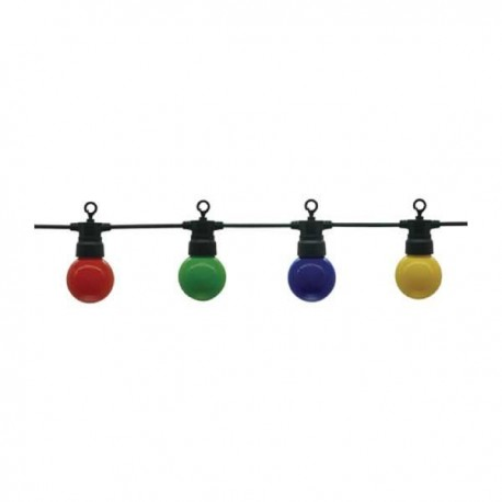 Ghirlanda Luminoasa Neagra 8m Cu 10xE27 G45 Color