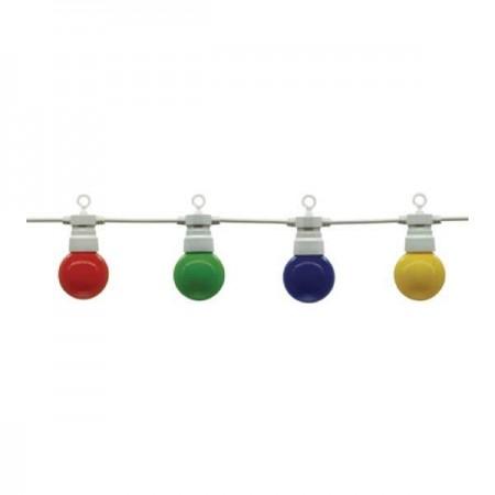 Ghirlanda Luminoasa Alba 8m Cu 10xE27 G45 Color - Ledel