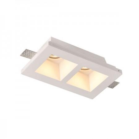 Spot LED Patrat Incastrat fara Margini 2xGU10 ф215 - Ledel
