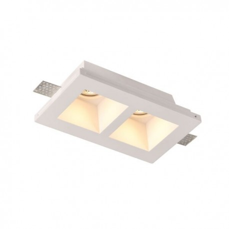 Spot LED Patrat Incastrat fara Margini 2xGU10 ф215