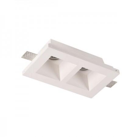 Spot LED Patrat Incastrat fara Margini Mat 2xGU10 - Ledel