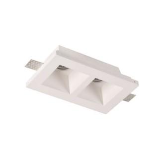 Spot LED Patrat Incastrat fara Margini Mat 2xGU10