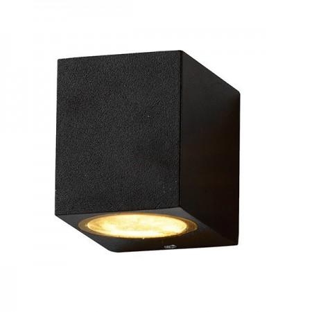 Lampa De Perete Aluminiu GU10 Neagra - Ledel