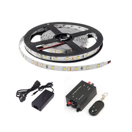 Kit Banda LED 5m 300LED cu Telecomanda Lumina Alba Interior - Ledel
