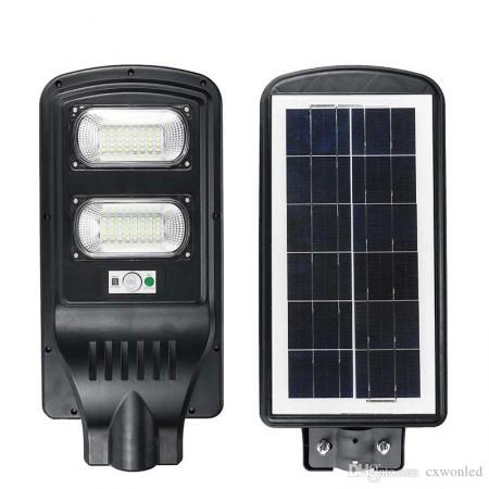 Lampa Stradala LED 60W Cu Incarcare Solara, Telecomanda si Senzor - Ledel