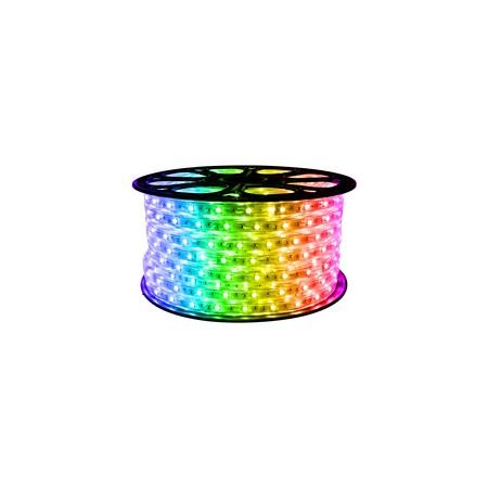 Banda LED RGB 220V, 14.4W, 72SMD, 2835, Dubla, Exterior - Ledel