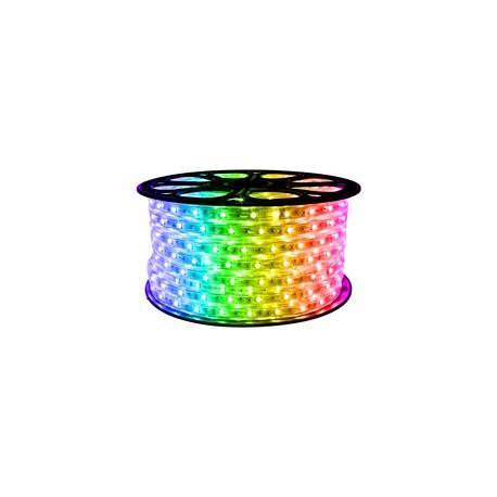 Banda LED RGB 220V, 14.4W, 72SMD, 2835, Dubla, Exterior