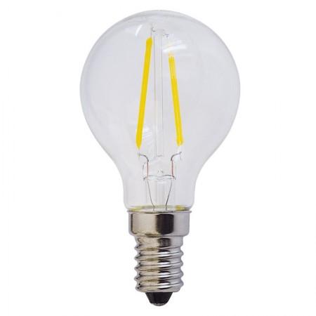 Bec LED E14 FILAMENT G45 2W 200Lm lumina calda/neutra/rece