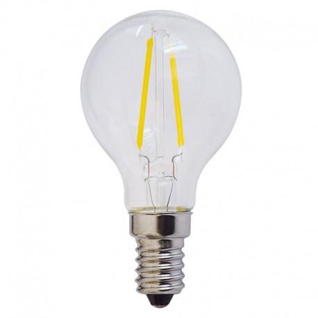 Bec LED E14 FILAMENT G45 2W 200Lm l
