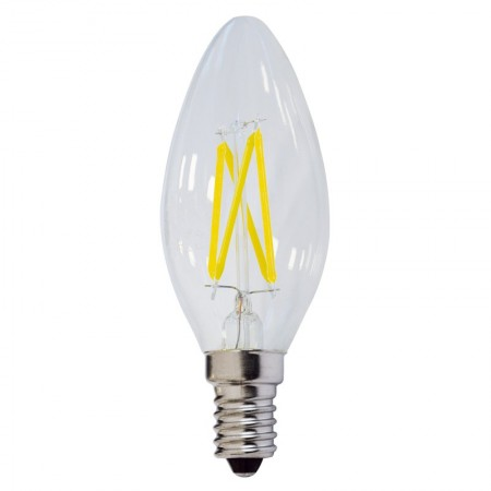 Bec LED E14 FILAMENT candela C35 4W 400Lm lumina rece/neutra/calda - Ledel