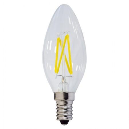 Bec LED E14 FILAMENT candela C35 4W 400Lm - Ledel