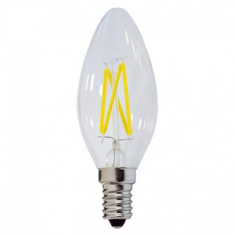 Bec LED E14 FILAMENT candela C35 4W 400Lm lumina rece/neutra/calda
