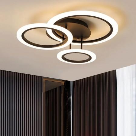 Lustra LED Design Oseye 74W CCT Dimabila Maro - Ledel