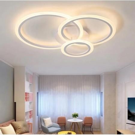 Lustra LED Design Oseye 74W CCT Dimabila Alb - Ledel